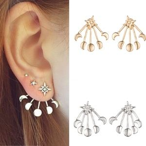 Jewelry - NEW moon&star ear jackets